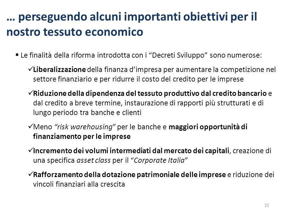 … perseguendo alcuni importanti obiettivi per il nostro tessuto economico