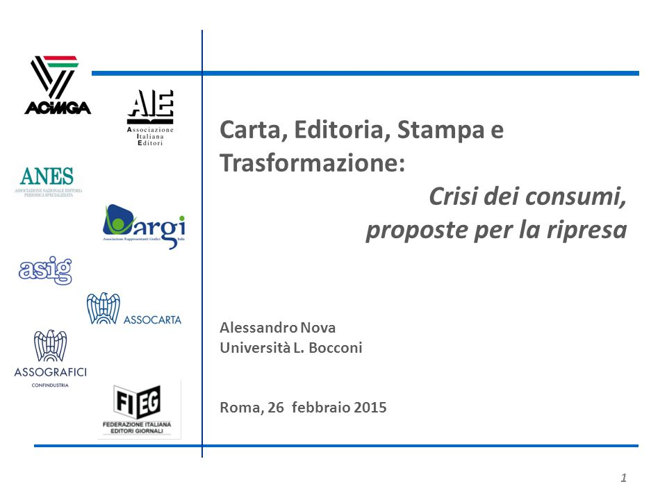 Carta, Editoria, Stampa e Trasformazione: Crisi dei consumi,