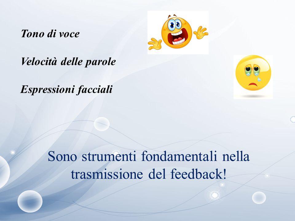 Sono strumenti fondamentali nella trasmissione del feedback!