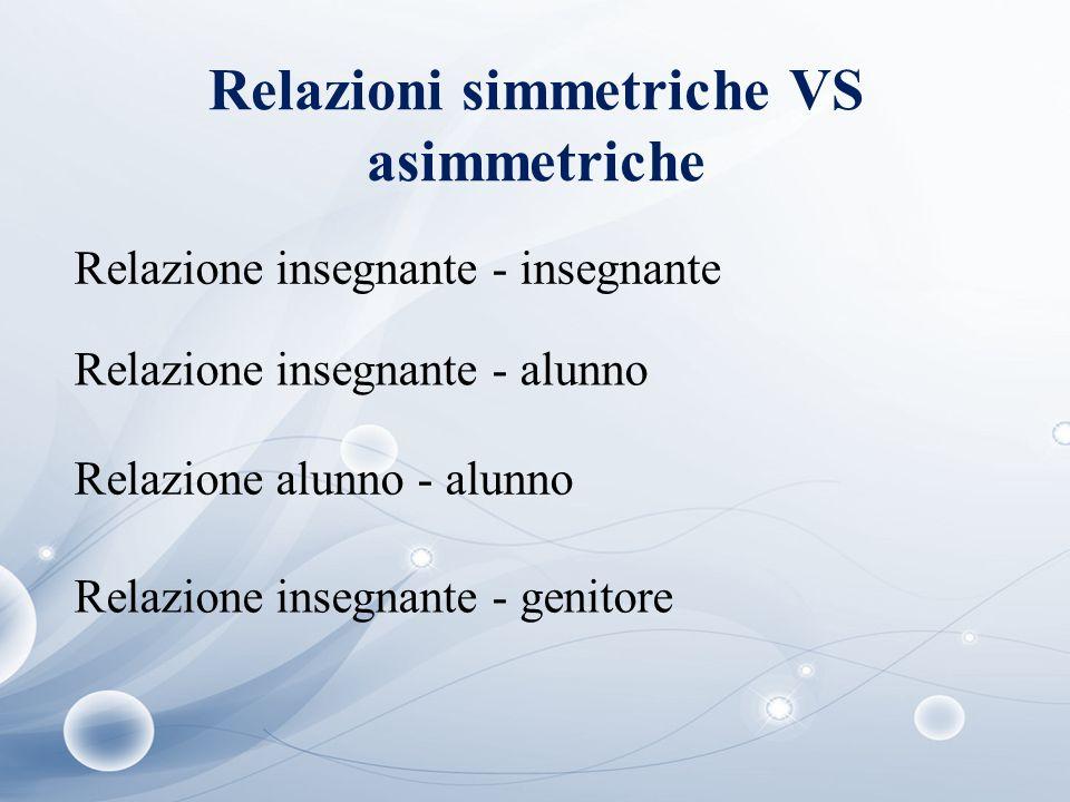 Relazioni simmetriche VS asimmetriche