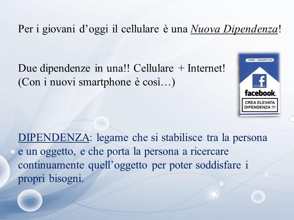 Per i giovani d'oggi il cellulare è una Nuova Dipendenza!