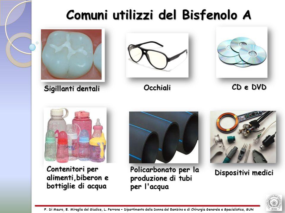 Comuni utilizzi del Bisfenolo A