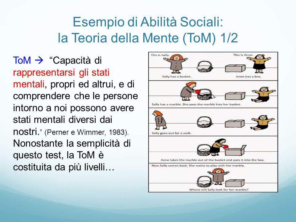 Esempio di Abilità Sociali: la Teoria della Mente (ToM) 1/2