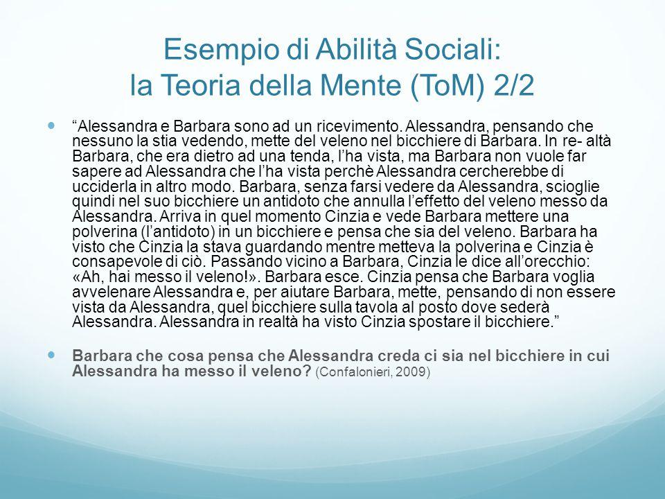 Esempio di Abilità Sociali: la Teoria della Mente (ToM) 2/2