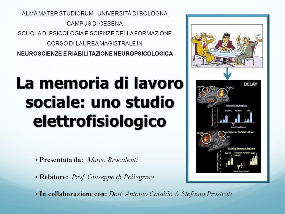 La memoria di lavoro sociale: uno studio elettrofisiologico