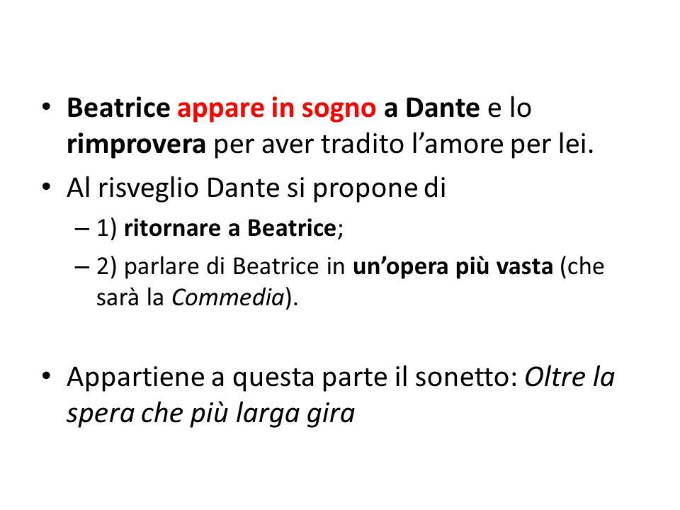 Al risveglio Dante si propone di