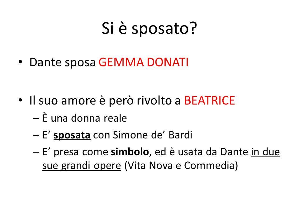 Si è sposato Dante sposa GEMMA DONATI