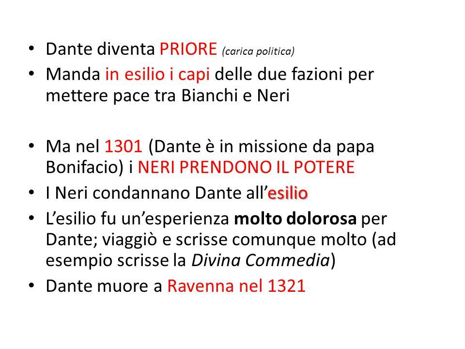 Dante diventa PRIORE (carica politica)