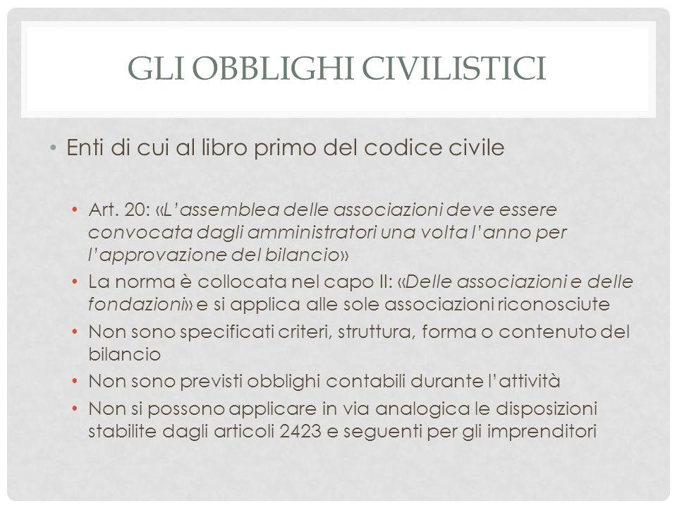 Gli obblighi civilistici