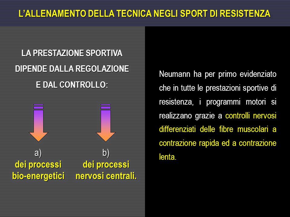 L'ALLENAMENTO DELLA TECNICA NEGLI SPORT DI RESISTENZA
