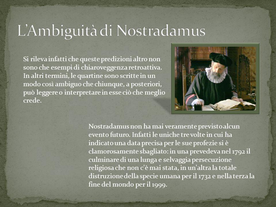 L'Ambiguità di Nostradamus