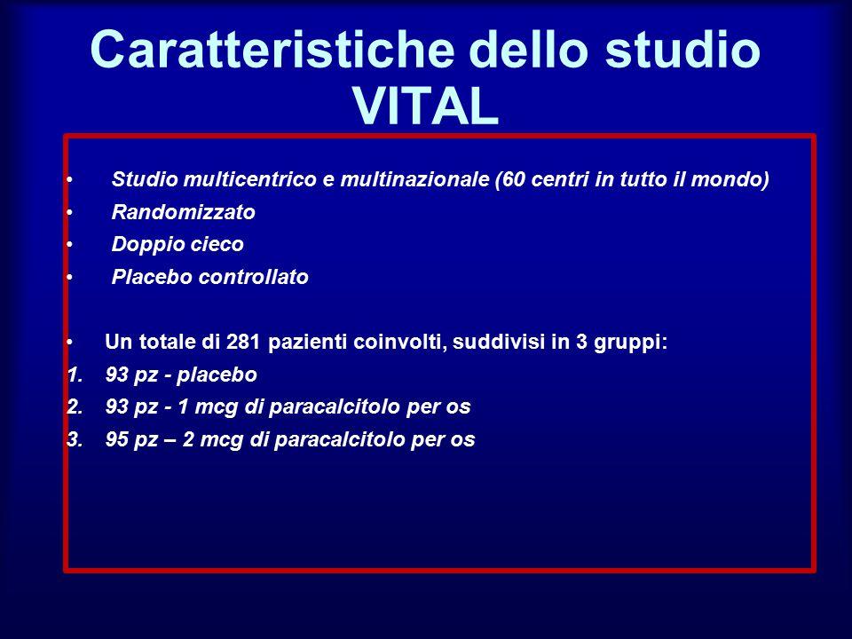 Caratteristiche dello studio VITAL