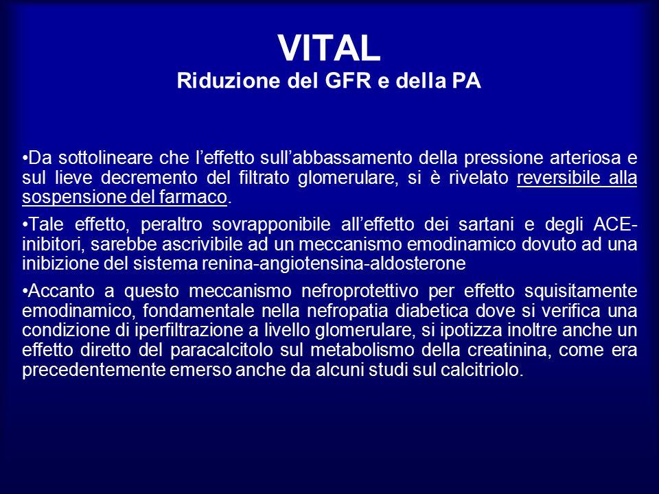 VITAL Riduzione del GFR e della PA