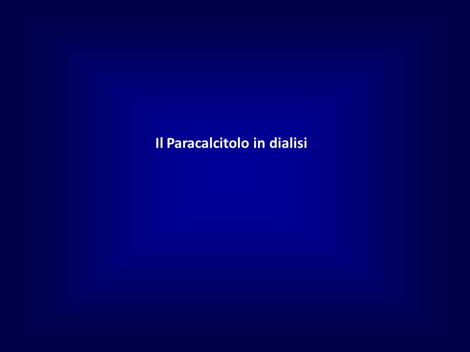 Il Paracalcitolo in dialisi