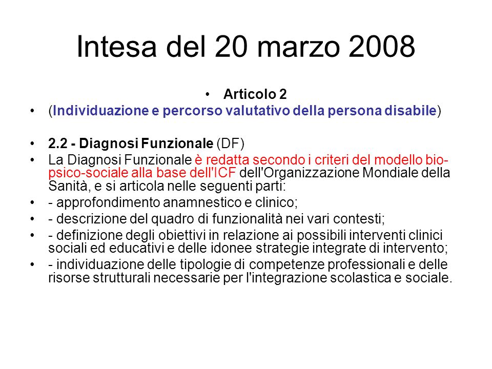 Intesa del 20 marzo 2008 Articolo 2