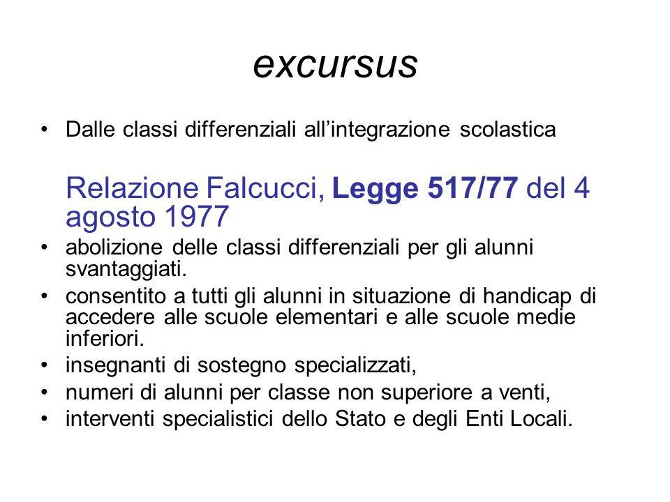excursus Relazione Falcucci, Legge 517/77 del 4 agosto 1977