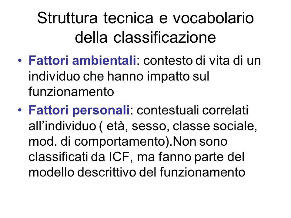 Struttura tecnica e vocabolario della classificazione