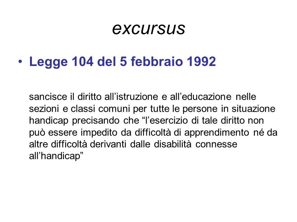 excursus Legge 104 del 5 febbraio 1992