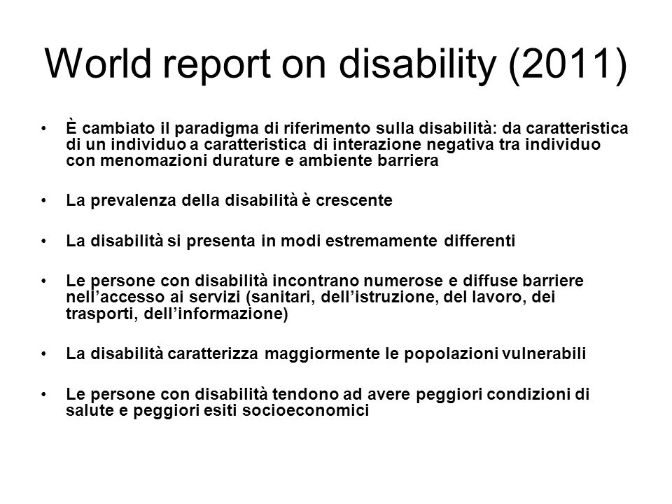 World report on disability (2011)