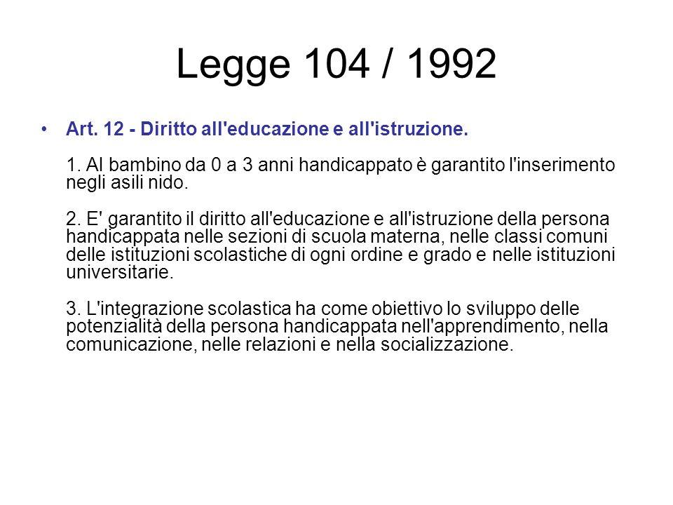Legge 104 / 1992