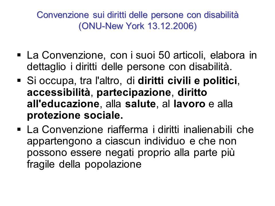 Convenzione sui diritti delle persone con disabilità (ONU-New York 13
