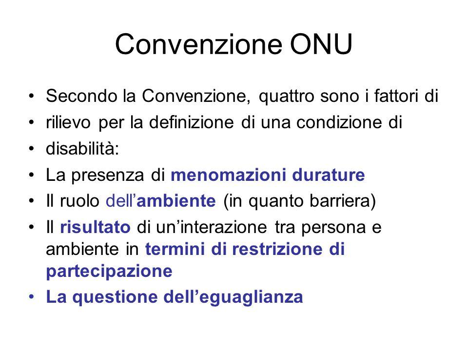 Convenzione ONU Secondo la Convenzione, quattro sono i fattori di