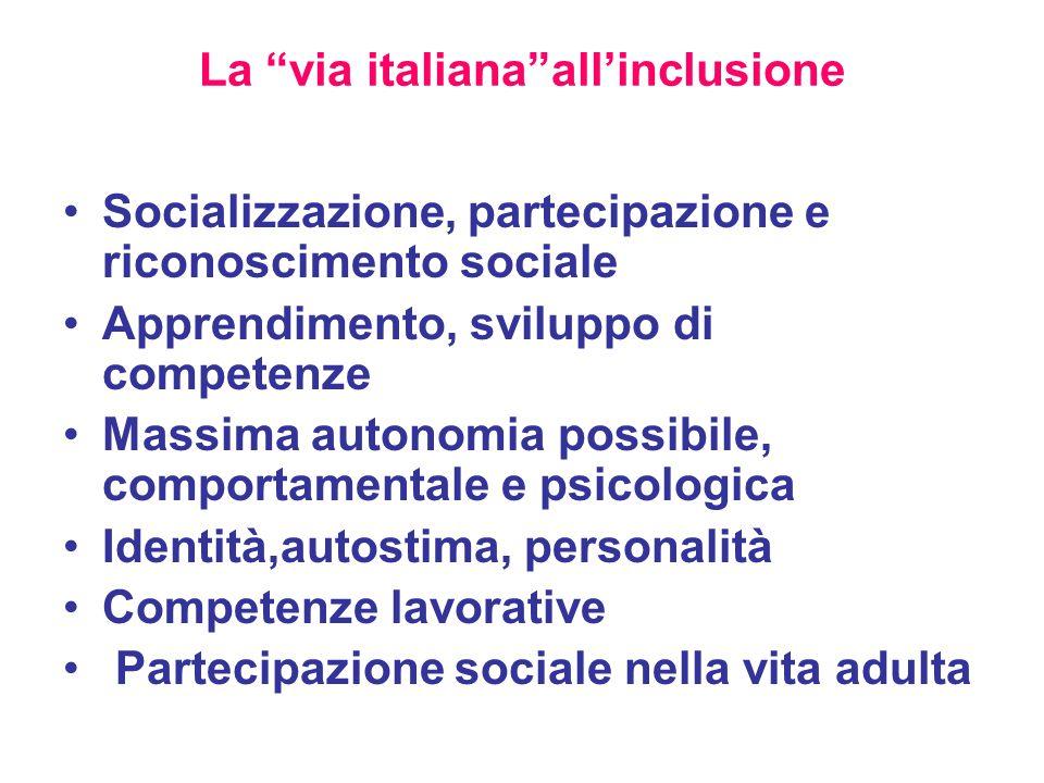 La via italiana all'inclusione