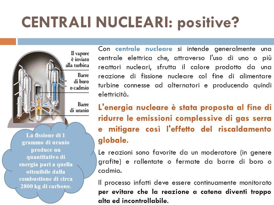 CENTRALI NUCLEARI: positive