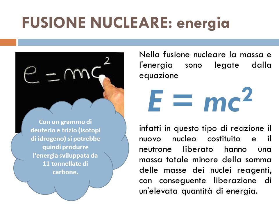FUSIONE NUCLEARE: energia