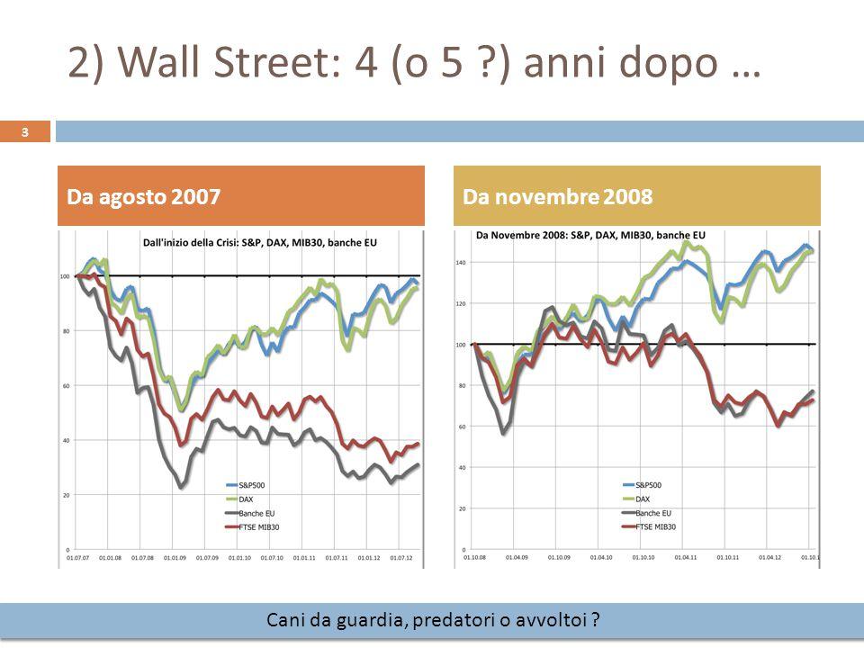 2) Wall Street: 4 (o 5 ) anni dopo …