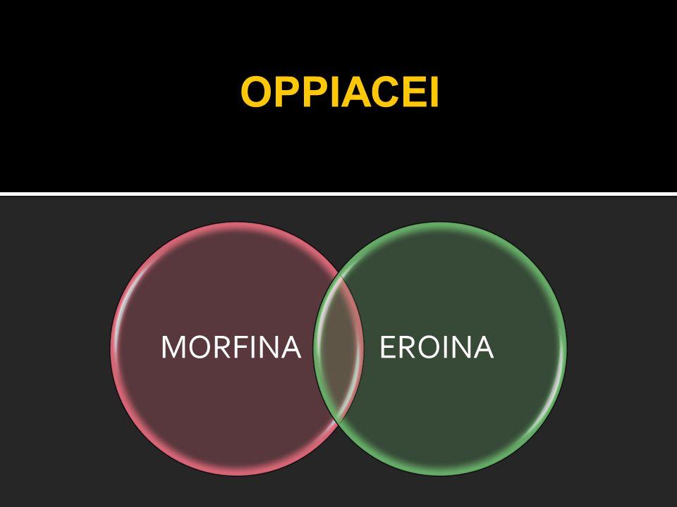 OPPIACEI MORFINA EROINA