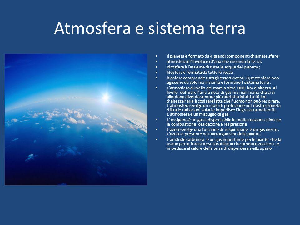 Atmosfera e sistema terra