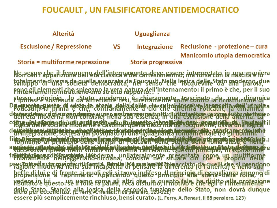 foucault , un falsificatore antidemocratico