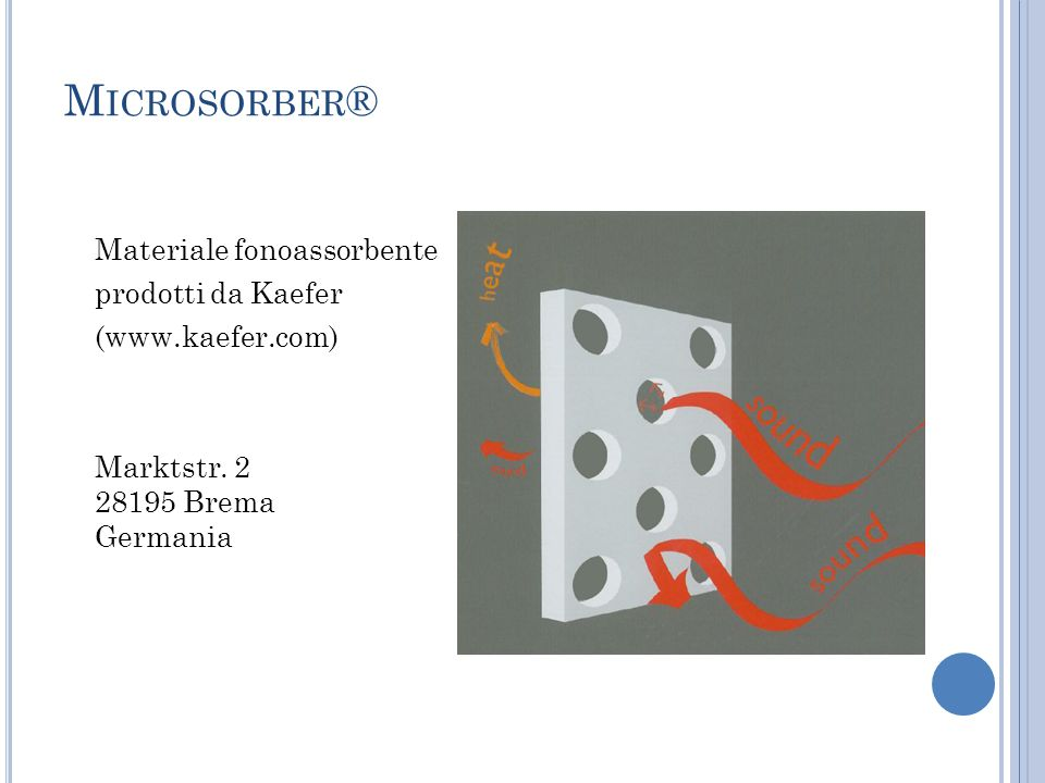 Microsorber® Materiale fonoassorbente prodotti da Kaefer (www.kaefer.com) Marktstr.