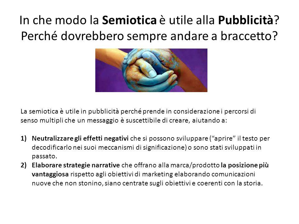 In che modo la Semiotica è utile alla Pubblicità