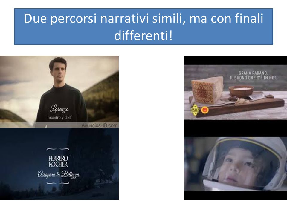 Due percorsi narrativi simili, ma con finali differenti!