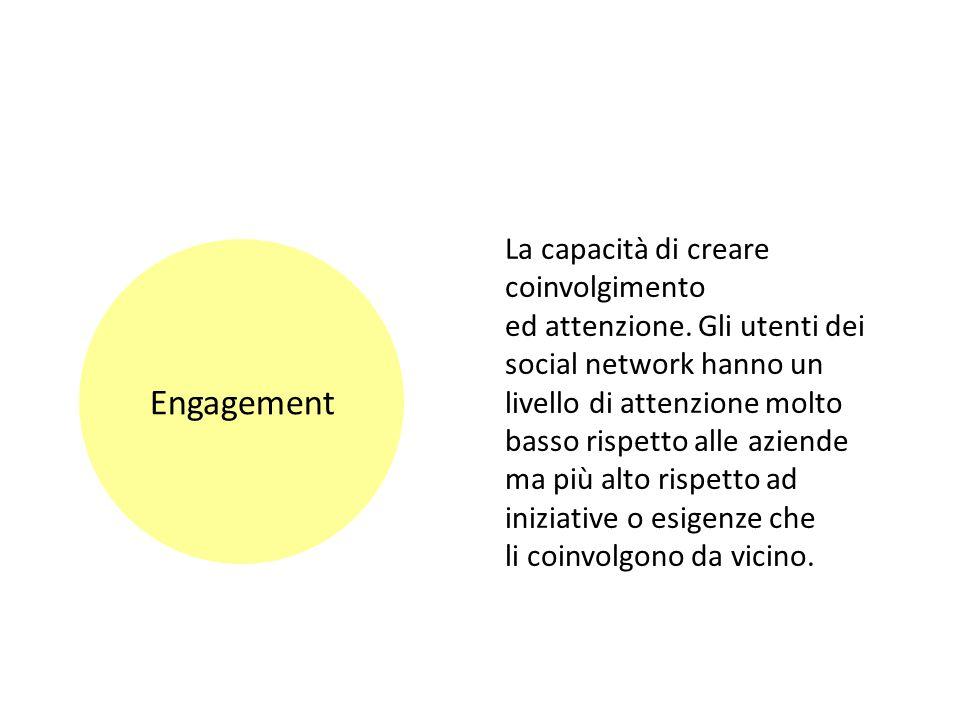 Engagement La capacità di creare coinvolgimento