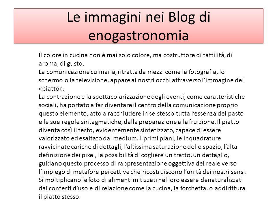 Le immagini nei Blog di enogastronomia