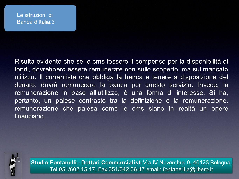 Le istruzioni di Banca d'Italia.3.
