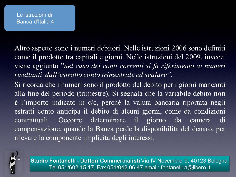 Le istruzioni di Banca d'Italia.4.