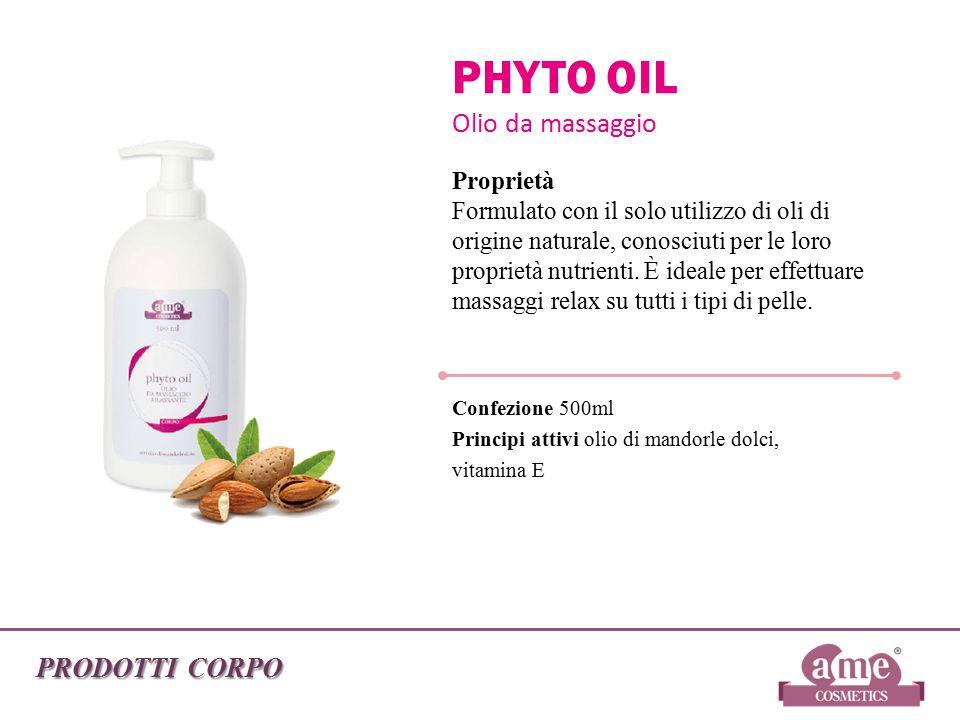 PHYTO OIL Olio da massaggio PRODOTTI CORPO Proprietà