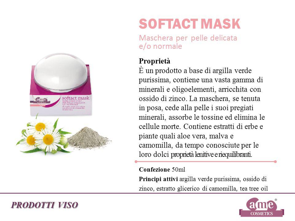 SOFTACT MASK Maschera per pelle delicata e/o normale PRODOTTI VISO