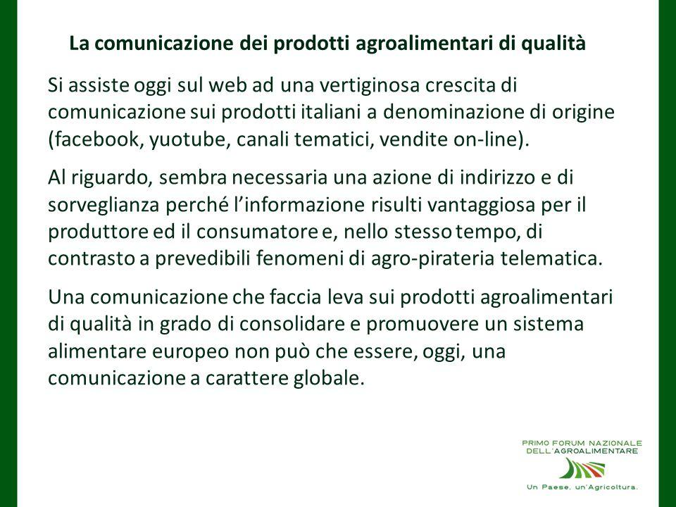 La comunicazione dei prodotti agroalimentari di qualità
