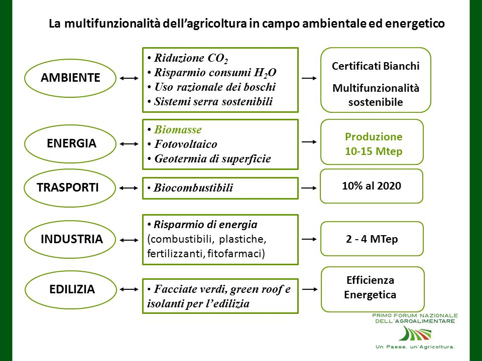Multifunzionalità sostenibile Efficienza Energetica