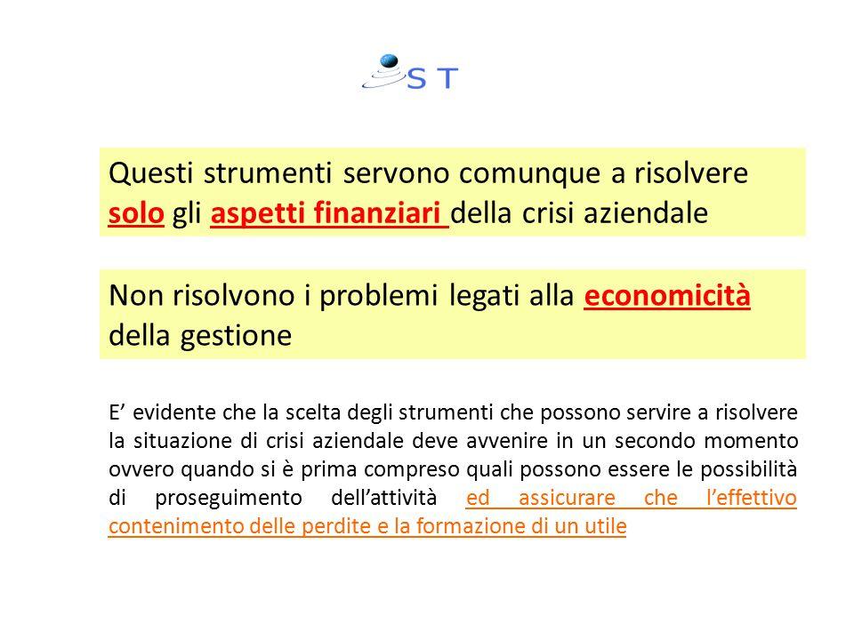 Non risolvono i problemi legati alla economicità della gestione