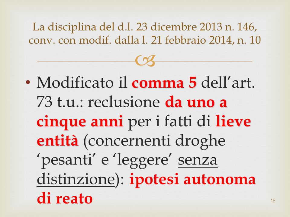 La disciplina del d. l. 23 dicembre 2013 n. 146, conv. con modif