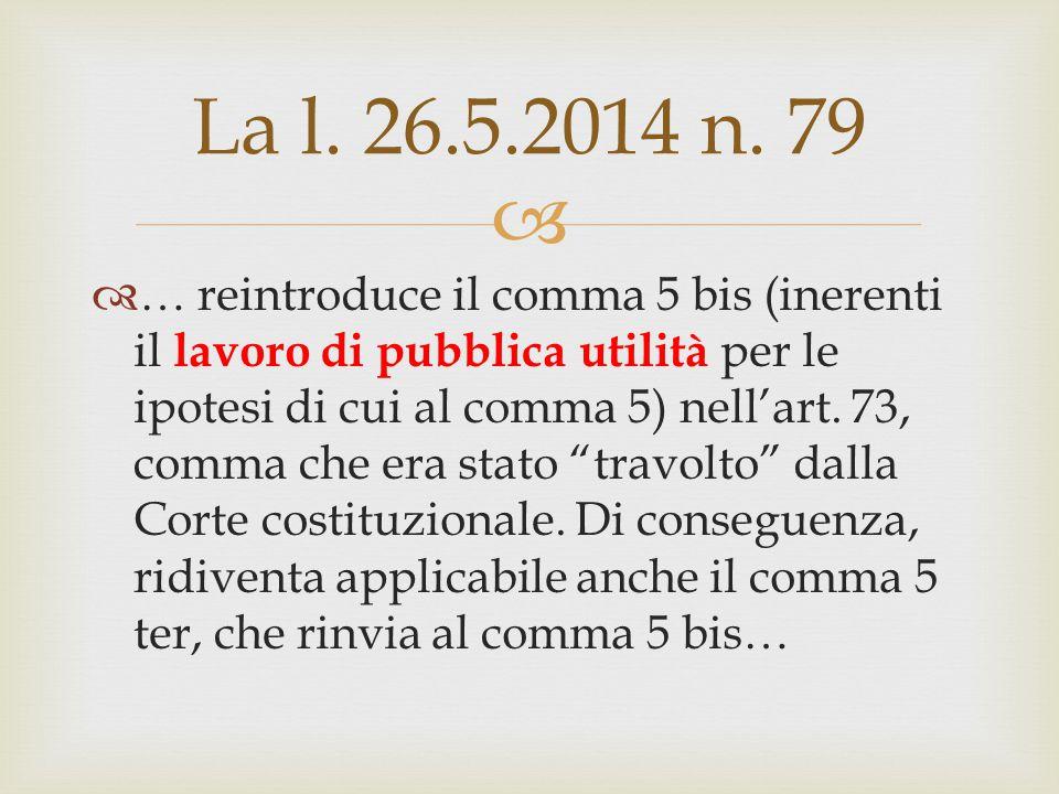 La l. 26.5.2014 n. 79