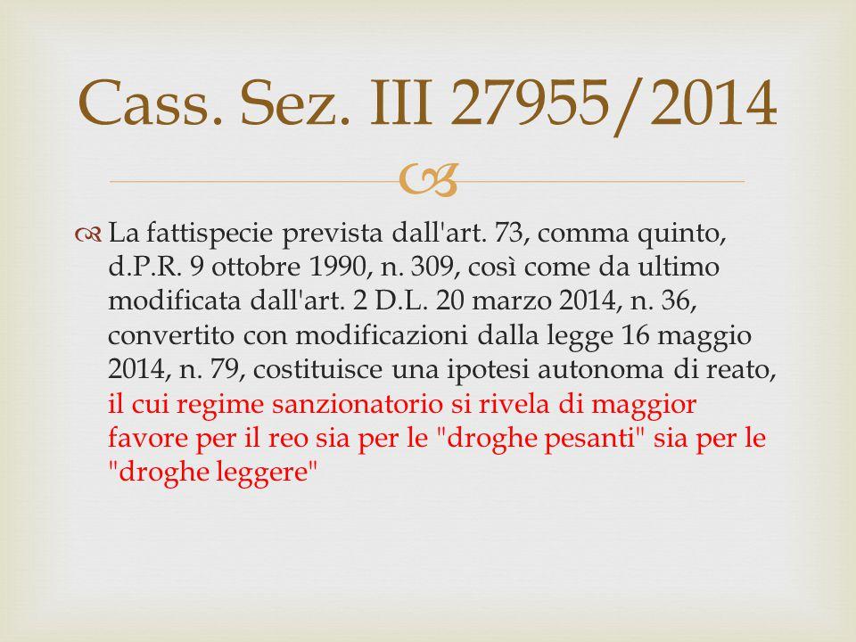 Cass. Sez. III 27955/2014