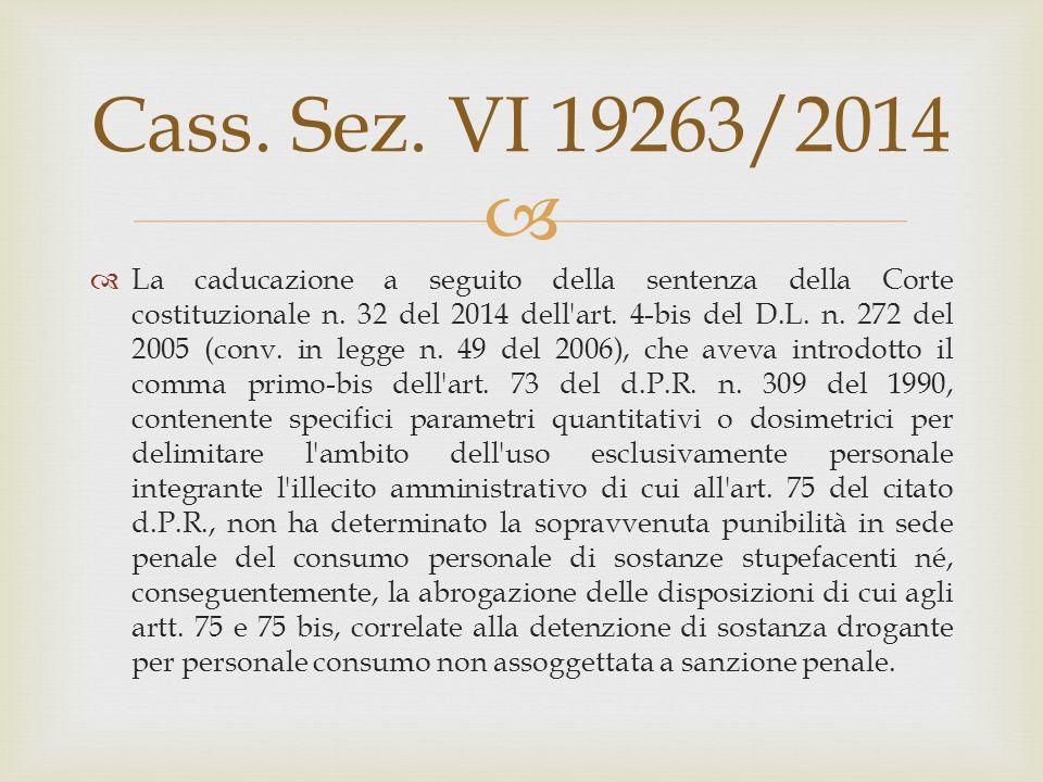 Cass. Sez. VI 19263/2014
