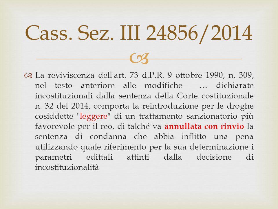Cass. Sez. III 24856/2014